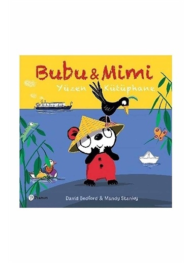 Panel Kırtasiye Bubu İle Mimi - Yüzen Kütüphane - David Bedford, Mandy Stanley Renkli